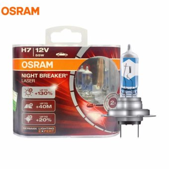 Bộ 2 bóng đèn ô tô Osram H7 Night Breaker Laser 130%(Trắng xanh)