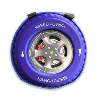 Ba lô hình bánh xe 3D cho bé trai (Tím)