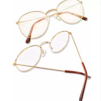 Mắt kính ngố gọng cận Nobita nam-nữ thời trang KZY (Vàng)