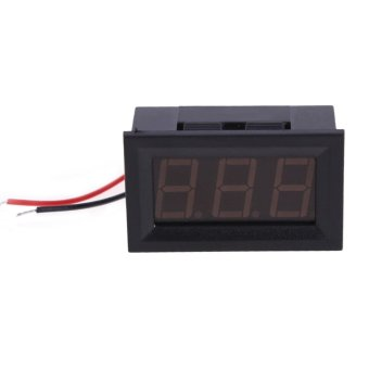 2.5 to 30V Digital Voltmeter Display for Auto Car Truck (Black) (Intl)