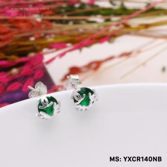 Bông tai nữ trang sức bạc Ý S925 Bạc Xinh YCXR140