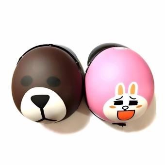 Bộ mũ bảo hiểm tình nhân Gấu & Thỏ(Nâu)