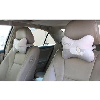 Đệm gối đầu ghế xe ô tô -ĐGĐ02 (Xám)