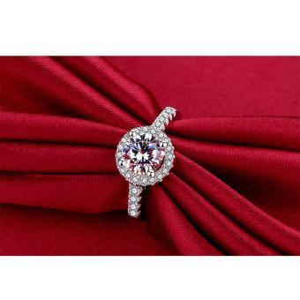 Nhẫn bạc nữ đính đá thời trang thanh lịch TB2