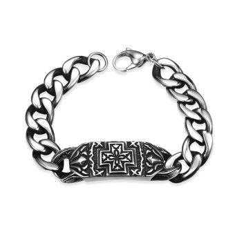 Retro 316L Stainless Steel Man Bracelet H015 Silver - Intl
