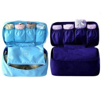Bộ 2 túi đựng đồ lót du lịch Monopoly underwear (Xanh dương - Xanh than)