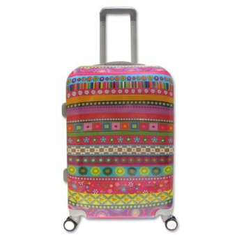 Vali kéo du lịch nhựa hình thời trang Thổ Cẩm size nhỏ đựng 7Kg TA0024