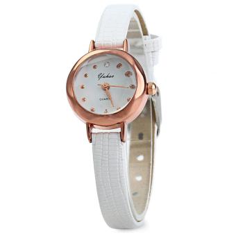 Đồng hồ nữ dây da tổng hợp Yuhao YU002-1 (Trắng)