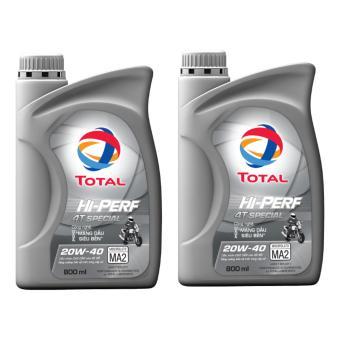 Combo 2 bình nhớt xe số Total Hi-Perf Special 20W40 0.8L