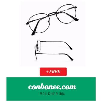 Mắt kính ngố gọng cận Nobita thời trang (đen) + Tặng Voucher giảm giá 10%