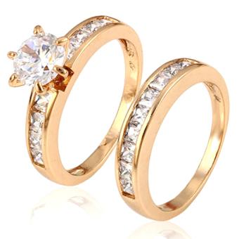 Bộ 2 chiếc nhẫn thời trang cao cấp Bily Shop XP 050 (Vàng)
