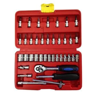 Bộ dụng cụ sửa chữa ô tô và xe máy đa năng (Đỏ)