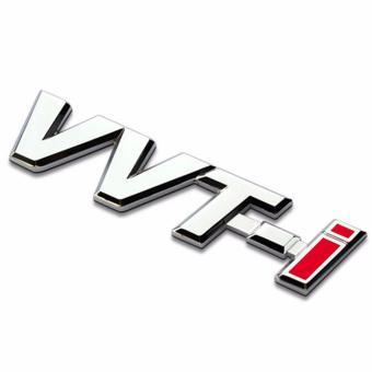 Tem chữ VVT-I cho ô tô (trắng phối đỏ)