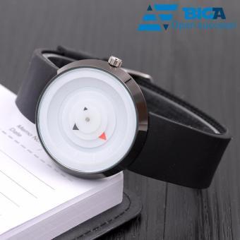 Đồng hồ không số Cá Tính HQ01 (Mặt trắng) - US04609