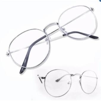Mắt kính ngố thời trang sang chảnh (Trắng)
