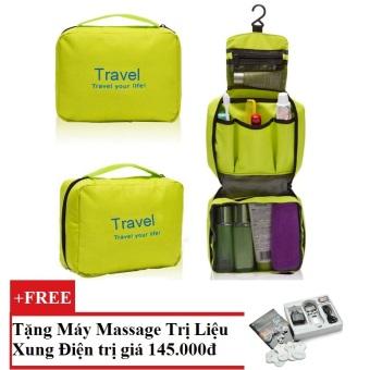 Túi du lịch đựng đồ cá nhân Travel (xanh Lá) + Tặng Máy mát-xa xung điện trị liệu cho deal 24h SYK 208 4 miếng dán (Trắng)