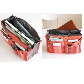 Combo 2 Túi vải dù 13 ngăn đựng đồ cá nhân (Cam)