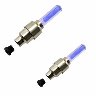 Bộ 2 đèn gắn bánh XE MÁY cảm ứng di chuyển F1 - 2017 (Xanh)