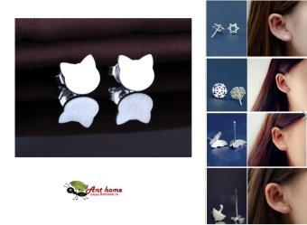 Bông tai nữ và nam (Khuyên tai) hình mèo đơn giản theo phong cách Châu Âu (BT24)
