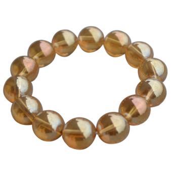Vòng tay đá Thạch anh vàng tinh khiết HI&T 3
