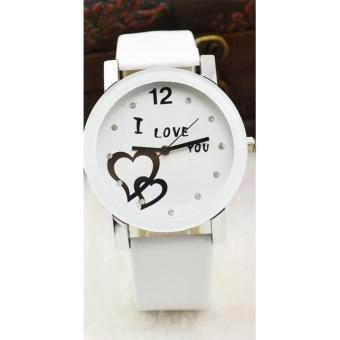 Đồng hồ nam dây da thời trang IDMUASAM 9451 (Dây trắng mặt trắng)