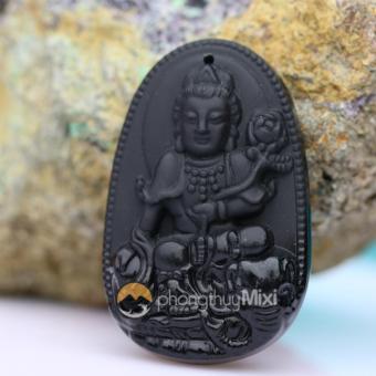 Dây chuyền nam Phật Bản Mệnh Phổ Hiền Bồ Tát Đá Núi Lửa
