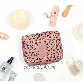 Mua Túi du lịch đựng mỹ phẩm và đồ cá nhân CD02 mẫu hoa văn da beo chodeal24h (da beo hồng) giá tốt nhất