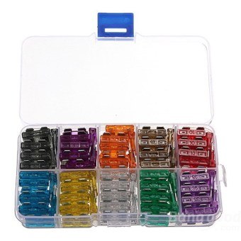 100x Assorted Car Medium Blade Fuse 2A 3A 5A 7.5A 10A 15A 20A 25A 30A 35A (Intl)
