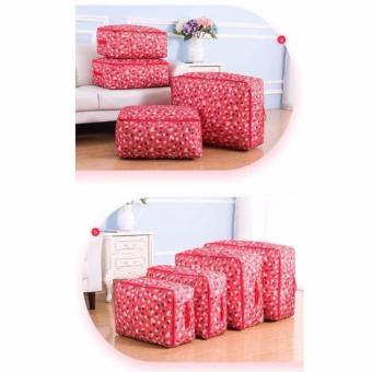 Túi đựng chăn màn, quần áo chống thấm (hoa đỏ)