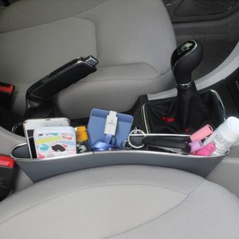 Bộ 2 khay để đồ khe ghế ô tô I-POP (Ghi xám)
