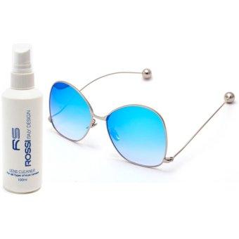 Bộ 1 kính mát nữ và 1 chai nước rửa kính MKH 5555 (Xanh ngọc khói)
