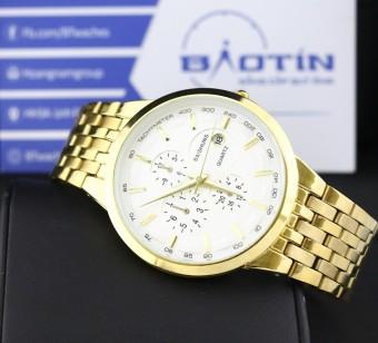 Đồng hồ nam dây kim loại mạ Vàng BAISHUNS 9886 (Trắng)