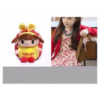 Balo búp bê đáng yêu cho bé gái đỏ (áo vàng)