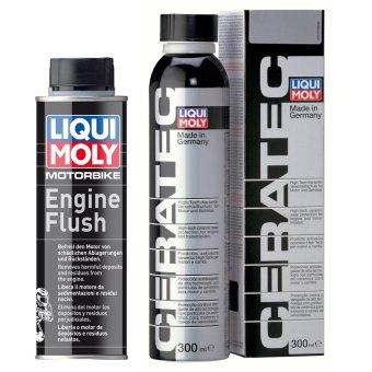 Bộ sản phẩm súc rửa và bảo vệ động cơ Liqui Moly Cera Tec và Flush Engine