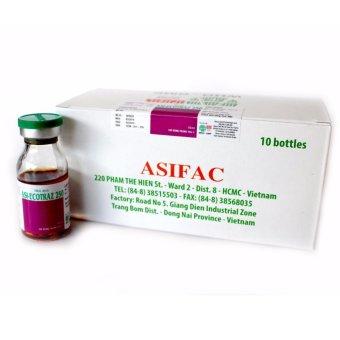 Thuốc phòng trị ve, rận, bọ chét, ghẻ cho vật nuôi Asi-ECOTRAZ 250 (hộp 10 chai 10ml - dung dịch đậm đặc)