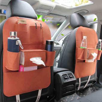 Túi bao đựng đồ tiện ích 6 ngăn sau ghế ô tô Cao Cấp bảo vệ ghế xe (Da bò)