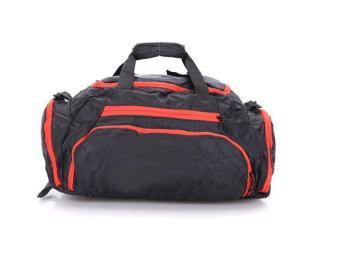 Túi du lịch đa năng Lv Tech không thấm nước (Đen phối đỏ) - Hàng nhập khẩu
