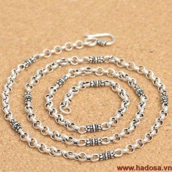 Dây chuyền bạc Thái 925 handmade Hadosa 45cmx4mm TSN03S45