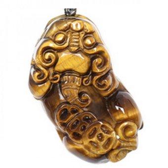 Mặt Dây Chuyền Tỳ Hưu Opal Vàng Tặng 1 Vòng Cổ