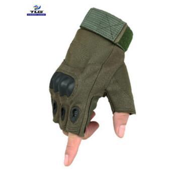 Găng tay hở ngón chiến thuật quân sự thể dục TLG 206215-2 size M (Xanh lính)