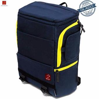 Balo Laptop Glado Cylinder Màu Xanh BLC001 - Hàng Phân Phối Chính Hãng
