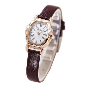 Đồng hồ nữ dây da thời trang Yuhao 4723 (Dây nâu)