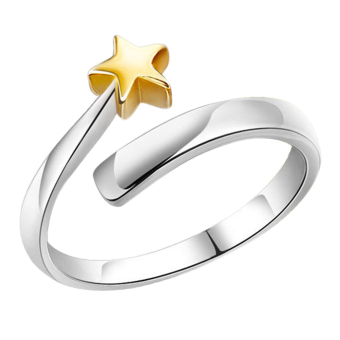 Fancyqube Five-pointed Star Pattern Adjustable Woman Ring Gold