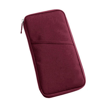 Portable Travel Passport Cover Credit ID Card Travel Wallet Case Document Bag Wine Red - intl