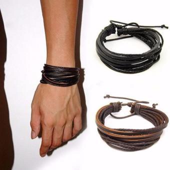 Vòng tay handmade da nam nữ - combo 2 cái