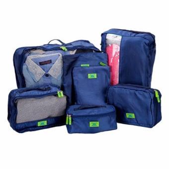 Bộ 7 túi đựng đồ du lịch đa năng(Xanh dương nhạt)