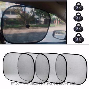 Bộ 4 tấm màn che nắng tròn cho cửa sổ ô tô