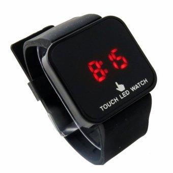Đồng hồ nữ dây nhựa cảm ứng công nghệ LED (Đen).