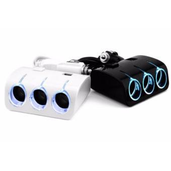 Bộ Chia 3 Tẩu Và 2 Cổng USB Cho Ô Tô