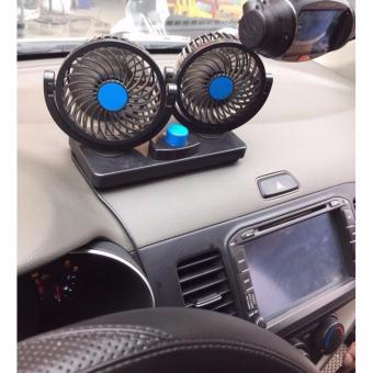 Quạt đôi thông minh 12V cho xe ô tô JJ-T102 (Đen)